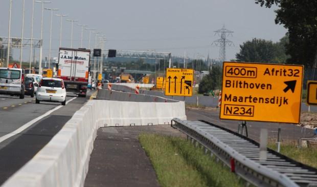 A27 wegwerkzaamheden, foto: De Vierklank