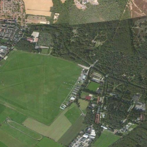 Vliegveld Hilversum vanuit de lucht