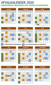 Afvalkalender 2020