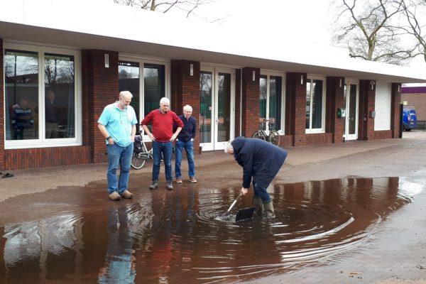 wateroverlast bij dorpshuis